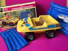 "Sindy Camping Buggy Tent 1975 vehicle car 44542 jeep mattress box fit 12"" doll"