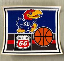 Vintage University of Kansas KU Bumper Sticker Decal Jayhawks Basketball