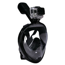 L/XL Swimming Full Face Anti-Fog Mask Surface Diving Snorkel Scuba Adult Black
