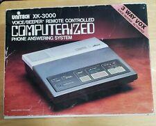 Vintage Unitech XK-3000 3 Way VOX Answering Machine In Original Box