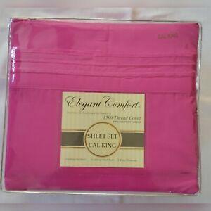 Elegant Comfort California King Sheet Set 1500 Thread Count Egyptian Cotton