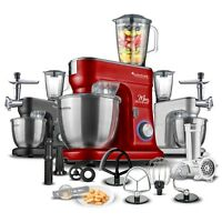 TurboTronic 1500W New Premium Line Full Set Food Stand Mixer With Meat Grinder