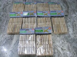 360 COUNT Wood Clothespins Wooden Laundry Clothes Pins Large Springs Regular NEW