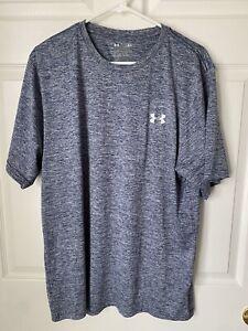 Under Armour Loose Fit Men's Gray Short Sleeve Shirt Size 2XL