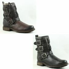 Frye Womens Valerie Strappy Shearling Lined Leather Fashion Ankle Boots
