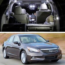 9Pcs SMD LED White Light Interior Package Deal for Honda Accord Sedan 2008-2012