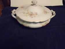 Covered Dish Stamped Vienna Austria Floral Pattern
