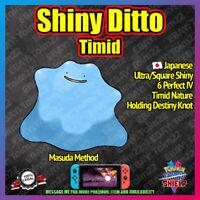 Shiny Japanese DITTO TIMID | Perfect 6IV | Masuda | Pokemon Sword Shield