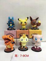 Pokemon figurine chibi plusieurs modèles evoli mew lucario pikachu dracaufeu