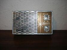 Encore Transistor Solid State Radio Hong Kong Works Mid Century Starburst  9V