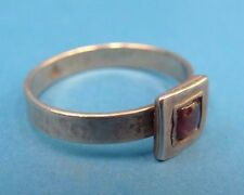 Vintage Old Sterling Silver .925 Purple Faux Stone Mountain Hallmark Modern Ring