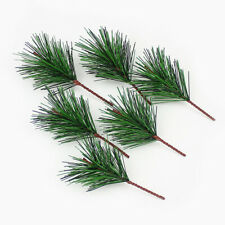 10x Christmas Artificial Pine Needle Fake Plant Flower Handmade DIY Home Decor