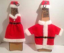 New Santa Suit + Mrs Santa Claus Bottle Outfits Bed Bath & Beyond Bottle Couture
