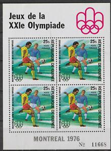 1976-GUINEE- BLOC FEUILLET  P.A JEUX DE LA XXIé  MONTREAL OLYMPIADE Neuf**