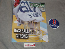 Boston Marathon Yawkey Way Report Red Sox Program Scorecard B Strong Patch Lot