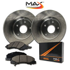 2013 Fit Toyota Yaris w/Rear Drum Brakes OE Replacement Rotors w/Ceramic Pads F