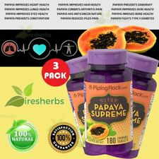 Papaya Enzyme Protease Amylase Digestion Constipation Eye Skin Supplement 540Tab