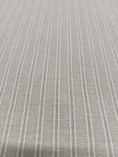Yale Ticking Stripe Linen Fabric in  Cream Double Width 280cm Wide   Curtains