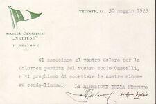 7231) TRIESTE, SOCIETA' CANOTTIERI NETTUNO.