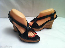 Steven by Steve Madden Wedge Cork Strappy Sandals Womens Size 9 M