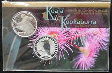 2009 Perth Mint Coin Show Special Sydney Koala & Kookaburra 1Oz Silver Coins