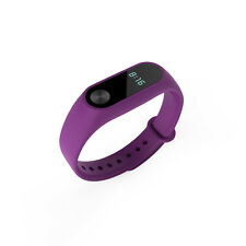 New Wrist Band w/ Metal Buckle Replacement For Xiaomi Mi Band 2 Bracelet Purple