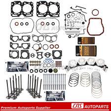 Fits 99-05 Subaru 2.5 SOHC EJ25 Piston Head Bolts Valve kit W/ Re-Ring Kit