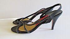 Women's Vintage Dress Egon Von Furstenberg 7.5 N Narrow Black Rhinestone Heels