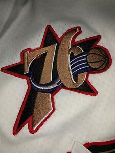 Mitchell Ness Philadelphia 76ers IVERSON Stackhouse 1997 Authentic WHITE Shorts