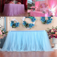Table Skirt Cover Lace Birthday Wedding Hotel Festive Party Decor Table Cloth UK