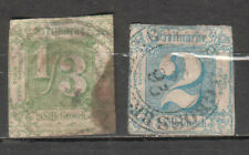 Germany German States Thurn And Taxis Northern District 1/3 & 2 sgr stamps used