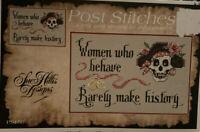 Post Stitches Women Who Behave Rarely  Make History Cross Stitch Chart Skull