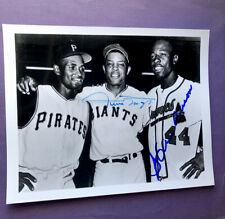Hank Aaron / Willie Mays Signed 8x10 Signed Photo - BEAUTY !!
