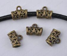 10Pcs antique bronze Bails Connectors (hole 3.8mm) Findings diy findings