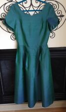 vintage LAURA ASHLEY silk sweetheart neck scoop back stunning size 10 dress