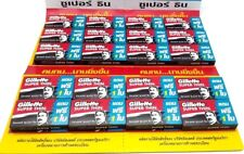 20Pack Razor Blades Gillette Super Thin New Improved Stainless Single Edge 120ps