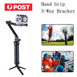 Adjustable 3 Way Monopod Selfie Pole Stick Camera Tripod Mount for GoPro Hero