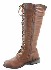 Women's Fashion Low Heel Motocycle Riding Knee High Boots Shoes Size 5.5 -10 NEW