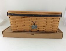 Longaberger 2001 Fathers Day Basket Large Checker Set Combo w Lid To Checkers