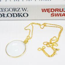Decorative Monocle Necklace 5x Magnifier Magnifying Glass Pendant Men's Choker