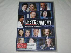 Grey's Anatomy - Complete Season 6 - Brand New & Sealed - Region 4 - DVD
