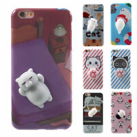 3D Soft Silicone Cat Panda Squishy TPU Phone Case Cover for iPhone 7 6s 6 plus