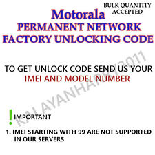 MOTOROLA PERMANENT UNLOCK CODE FOR  Motorola Atrix HD 4G LTE