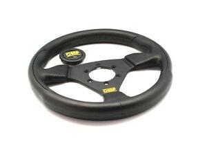 OMP TRECENTO UNO 300mm Black Polyurethane Steering Wheel OD/1989/NN