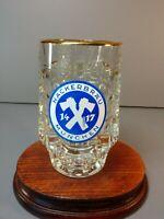 Hackerbrau Munchen Dimpled German Beer Glasses Steins Mug Breweriana .2 L