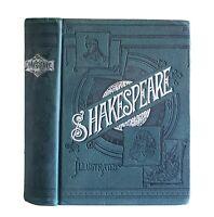 William Shakespeare: An Art Edition, Popular Dramas Large Antique 1889 Victorian