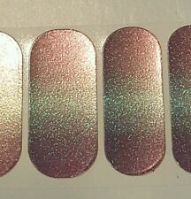 Jamberry Rare July 2015 Stylebox, HOLOGRAPHIC OMBRE, 1/2 sheet, Roller Disco