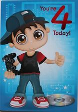 You're 4 today! Birthday card, Simon Elvin, video games theme, brand new
