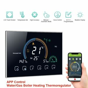 95-240V Wi-Fi Smart Programmable Thermostat 5+1+1 Six Periods Voice APP Control