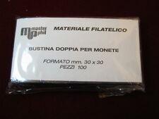 Bustina Doppia Eco / Bustine per monete Periziate a due posti 30x30mm da 100 pz.